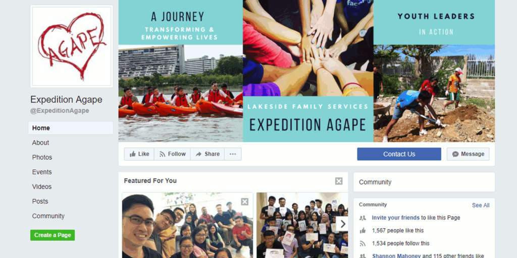 Digital Marketing Consultant Singapore - Portfolio - Facebook Marketing - Expedition Agape Header