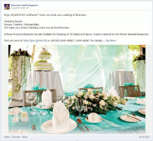 Digital Marketing Consultant Singapore - Portfolio - Facebook Marketing - Wedding Promotion tie-in with NTUC