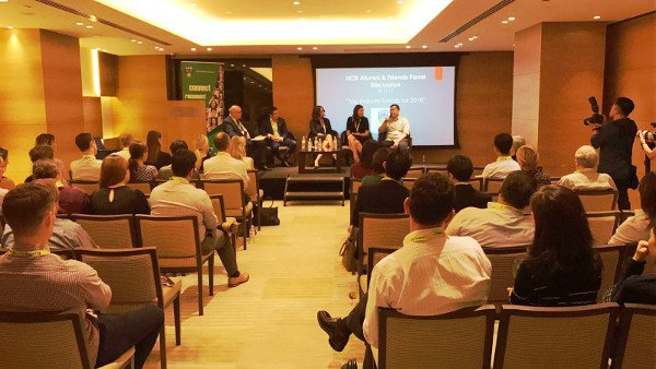 Timotheus Sharing Digital Marketing Trends of 2018 at UCD Alumni Panel of Experts
